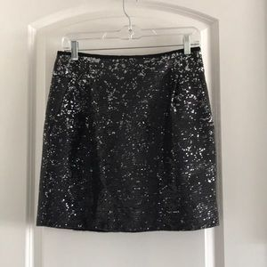 J. Crew sequined mini pencil skirt size 4